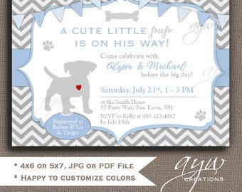 Dog Baby Shower Invitation Boy Puppy Baby Shower Invitation Labrador Retriever Baby Shower Invitations Baby Shower Black Lab Pup Shower