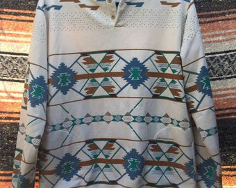 Vintage Southwestern Sweatshirt with Pockets: L