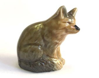 Wade Whimsie: Fox Figurine - 1972 - Wade Fox - Whimsie Fox - Wade Whimsies - Wade Figurines - Wade Collectables - Wades - Whimsie