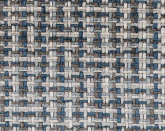 Navy Blue Grey Woven Upholstery Fabric By The Yard   Grey Tweed Fabric For  Furniture