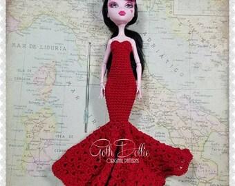 PDF/Ebook PATTERN: MHD Flamenco Inspired Crochet Gown Dress by GothDollie