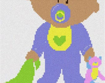 Needlepoint Kit or Canvas: Baby