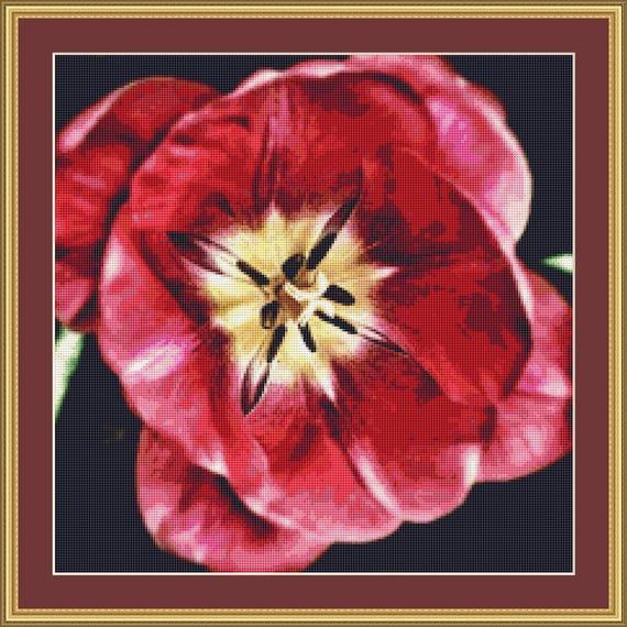 Flower Detail Cross Stitch Pattern /Digital PDF Files /Instant downloadable