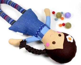 keepsake rag doll | camille cloth doll | first doll | handmade rag doll | girl doll