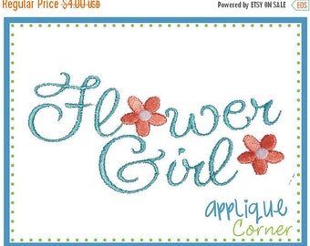 40% OFF Flower Girl Wording applique digital design for embroidery machine by Applique Corner