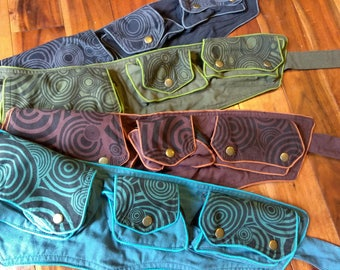30% Off SALE! Cotton Utility Belt with Pockets 4 Colors available