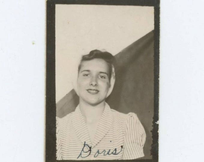 Vintage Photo Booth Portrait, c1940s: Doris Gaddis (610506)