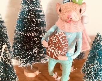 Muis Junior, Cupcakebears, kerstboom decoratie, Collector's item, handgemaakte