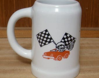 FREES SHIPPING! Vintage Pit Stop race car mug from the Philippines