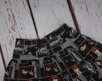 Girls Skirt-Harry Potter Gryffindor Crest Patch-Made to Order up to Size 10-Handmade