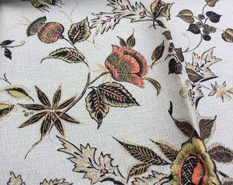 Vintage floral fabric piece