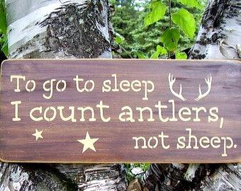 Rustic Nursery, Woodland Nursery, Rustic Nursery Sign, Rustic Boy Nursery Decor, To Go To Sleep, Woodland Decor,  Baby Signs For Nursery