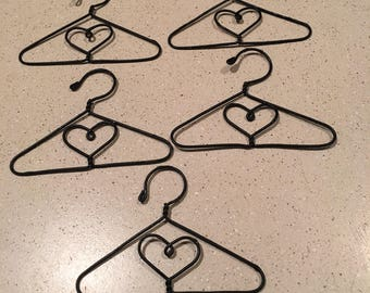 """4"""" Vintage Wire Doll Hangers (set of 5)"""