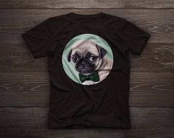 Angry Pug t-shirt, Pug tshirt tee, pet tshirt, dog tee, carlin, gift, chinese pug, dutch bulldog, dutch mastiff, mini mastiff, mops