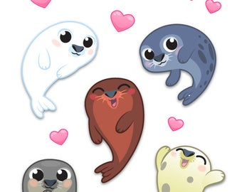Baby Seals Sticker Sheet