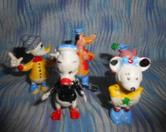 Vintage Disney Characters Cake Toppers-Hard Plastic