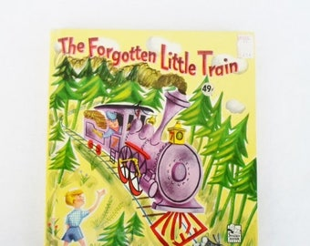 ON SALE Vintage Children's Book 1951 The Forgotten Little Train,  Whitman Publishing Co.  Story Hour Series, Racine WIS. Number 2208:49, Sal