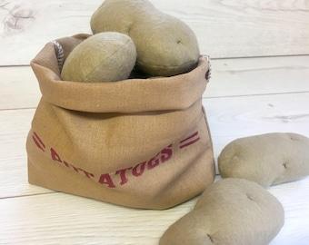 Pretend Play Felt Food Potatoes - Small / Large / as a Set