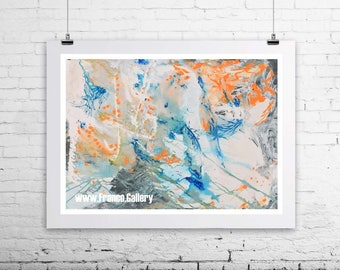 Abstract print Death Valley  print on canvas,  by Alexander Franco, abstract painting, home, deco, signed limited edition print on canvas