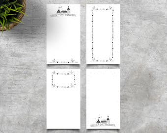 Printable Personal Planner Inserts.  Weekly Planner. Bullet Journal. Little Houses.
