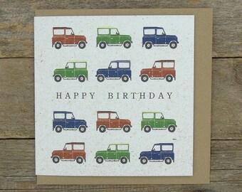 Off Road Happy Birthday Card