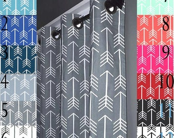 Shower Curtain - Arrow Shower Curtains - Bathroom Curtain - FREE SHIPPING - Red, Navy Blue, Gray, Mint, Coral, Pink, Orange, Black, Aqua