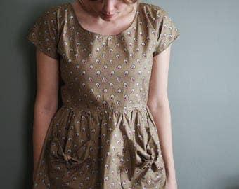 Everyday Dress / Simple Dress / Casual Dress / Floral Dress / Summer Dress / Modest Dress / Tunic / Smock Dress for Women  /Oversized Dress