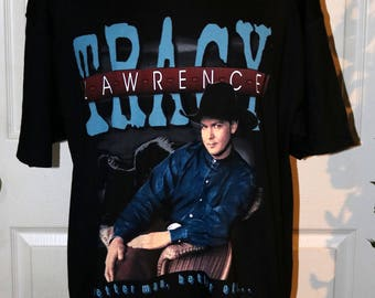 """1997 Tracy Lawrence """"The Coast is Clear"""" Tour T-Shirt - Size XL - 100% Pre-Shrunk Cotton - Stedman by Hanes"""