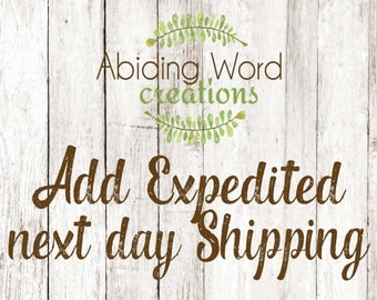 ADD EXPEDITED Shipping for 1-3 day delivery