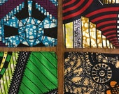 AFRICAN NAPKINS: set of 4 mix & match tunnel vision