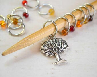 Knitting Stitch Markers - Autumnal - Snag Free - Made to order in your choice of 4 sizes