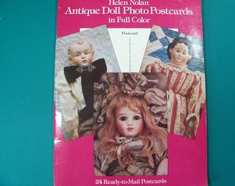Book of Antique Doll Photo Postcards - FREE SHIPPING