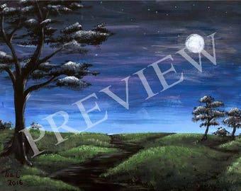 Moonlight Path 11x17 art print