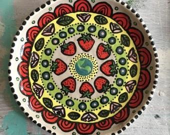Strawberry * Rose - plate