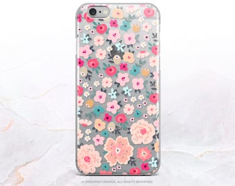 iPhone 8 Case iPhone X Case iPhone 7 Case Floral Clear GRIP Rubber Case iPhone 7 Plus Clear Case iPhone SE Case Samsung S8 Plus Case U257.