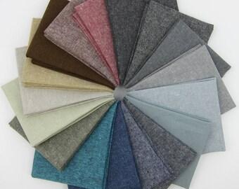 Essex Yarn-Dyed Fat Quarter Bundle - Robert Kaufman - 17 Fat Quarters - 4.25 Yards Total
