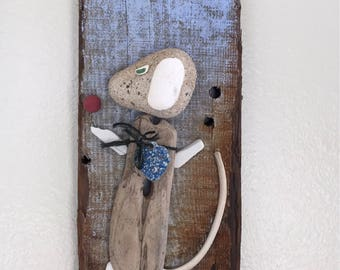 Driftwood dog art