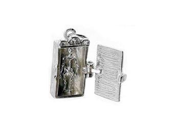 Sterling Silver Opening Skeleton In Closet Charm For Bracelets