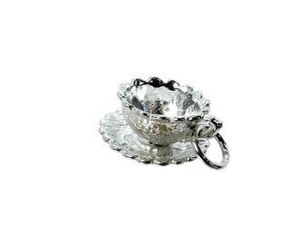 Sterling Silver Moving You Are My Cup Of Tea Charm For Bracelets