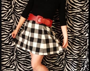 Pinup T38 40 retro Plaid skirt