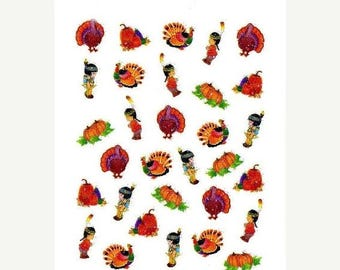 25% OFF SALE Thanksgiving Collection #1 Scrapbooking Stickers/ Nail Decals