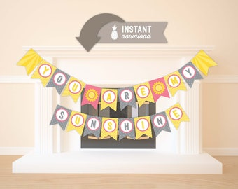 You Are My Sunshine Flag Banner - Instant Download