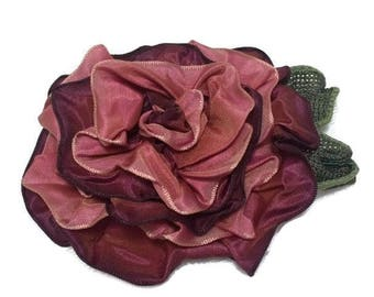 Rose Magnetic Corsage, Victorian Rose Pin, Fabric Flower Corsage, Magnetic Flower Pin