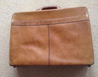 Vintage Caracciola Brown Leather briefcase portfolio case