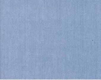 Blue Chambray Fabric from Moda Fabric Light Blue Modern Chambray Modern Blue Fabric Cotton Modern Quilt Fabric Moda Chambray Material