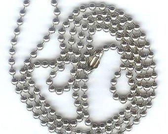 "24"" Nickel Plated Ball Chain"