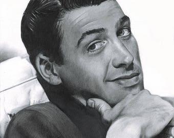 Drawing Print of Jimmy Stewart