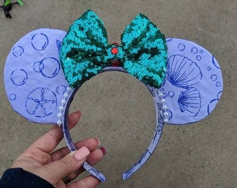 Ariel The little mermaid Minnie mouse ears