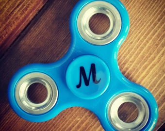 Fidget Spinner Decals - Cursive Initial (Spinner NOT included)
