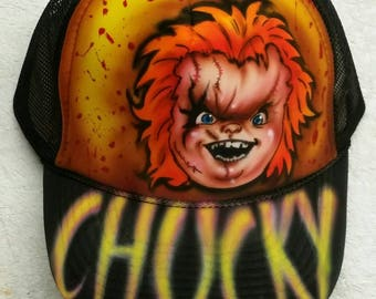 Custom airbrush snapback hat color black